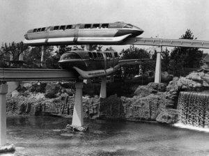 Disneyland Monorail in 1960