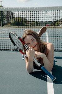 Connie Ragen Green Playing Tennis