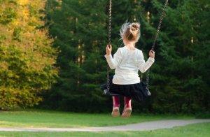 A Sensitive Child on a Swing