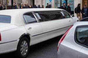 White Limousine in Las Vegas