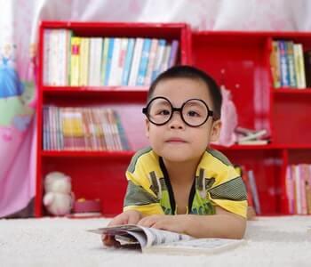 Calvin Reading a Book